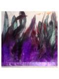 1 м. Фиолетовый цвет. Тесьма из перьев 14-19 см