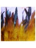 1 м. Желтый цвет. тесьма из перьев 14-19 см