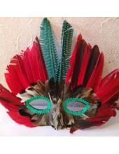 С-4. Маски для праздника с перьями