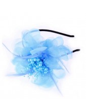 Д-3. Голубой цвет. Ободок с цветком для волос
