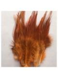 20 шт. Оранжево-коричневый цвет. Перья петуха 5-10 см. Цветные перья