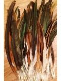 1 шт. Рыжий цвет. Перья петуха 25-25 см. 2-х цветное