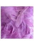 100 шт. Сиреневый цвет. Гусиное перо 4-9 см. Плавающее