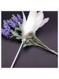 О-6. 1 шт. Белый цвет. Ручка из пера петуха
