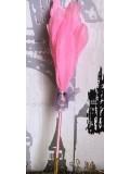 Х-2. Розовый цвет. Ручка с перьями птиц