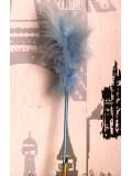 С-6. 1 шт. Голубой цвет. Ручка из перьев боа