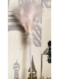 С-1. 1 шт. Белый цвет. Ручка из перьев боа