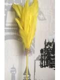 Х-3. Желтый цвет. Ручка с перьями птиц