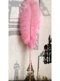 М-2.  Розовый цвет. Ручка с перьями птиц