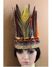 0022.  Индейский головной убор из перьев