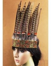 0023.  Индейский головной убор из перьев