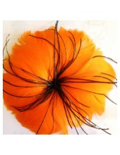 1 шт. Оранжевый цвет. Цветок из перьев птиц