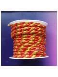 2 м. Красный с золотом. Тесьма жгут 0.5 см