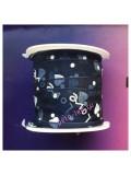 2 м. Темно-синий цвет. Лента капроновая с сердечками 2.5 см