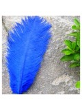 1 шт. Синий цвет. Перо страуса 20-25 см