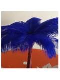 1 шт. Синий цвет. Перо страуса 35-40 см