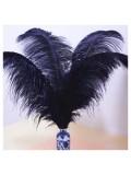 1 шт. Черный цвет. Перо страуса 40-45 см
