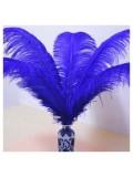 1 шт. Синий цвет. Перо страуса 40-45 см
