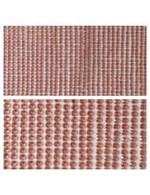 1 шт. Розовый цвет. Наклейки со стразами 4 мм. 9 х 12 см.