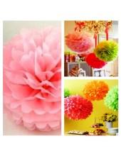 1 шт. Розовый цвет. Бумажные цветы. Пионы. Объем 10 см.