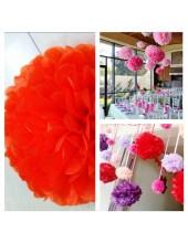 1 шт. Красный цвет. Бумажные цветы. Пионы. Объем цветка 15 см