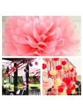 1 шт. Розовый цвет. Бумажные цветы. Пионы. Объем цветка 20 см