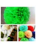 1 шт. Салатовый цвет. Бумажные цветы. Пионы. Объем цветка 20 см