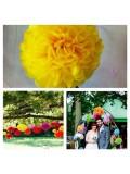 1 шт. Ярко-желтый цвет. Бумажные цветы. Пионы. Объем цветка 20 см