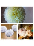 1 шт. Молочный цвет. Бумажные цветы. Пионы. Объем цветка 20 см