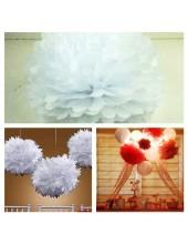 1 шт. Белый цвет. Бумажные цветы. Пионы. Объем цветка 25 см