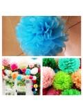 1 шт. Голубой цвет. Бумажные цветы. Пионы. Объем цветка 25 см