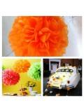1 шт. Оранжевый цвет. Бумажные цветы. Пионы. Объем цветка 25 см