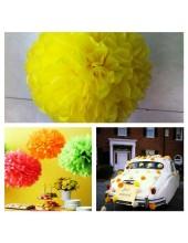 1 шт. Желтый цвет. Бумажные цветы. Пионы. Объем цветка 25 см
