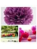 1 шт. Фиолетовый цвет. Бумажные цветы. Пионы. Объем цветка 25 см