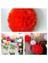 1 шт. Красный цвет. Бумажные цветы. Пионы. Объем цветка 25 см