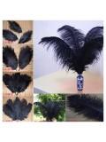 1 шт. Черный цвет. Перья птиц страуса 65-70 см
