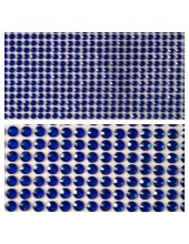 1 шт. Синий цвет. Наклейки со стразами 6 мм. 9 х 13 см.
