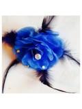 НН-2. Синий цвет. Заколки с перьями птиц и броши