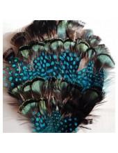 312. Брошь из перьев птиц 8-12 см.