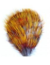 301. Брошь из перьев птиц 8-12 см.
