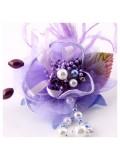КК-4. Фиолетовый цвет. Заколки с перьями птиц и броши