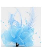 ОО-7. Голубой цвет. Заколки с перьями птиц и броши