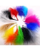 20 шт. Микс цвет. Боа марабу перья страуса 7-10 см