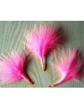 20 шт. Розовый цвет. Боа марабу перья страуса 7-10 см