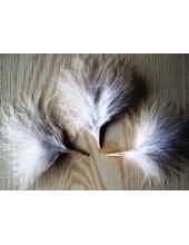 20 шт. Белый цвет. Боа марабу перья страуса 7-10 см