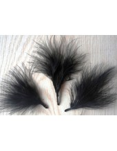 20 шт. Черный цвет. Боа марабу перья страуса 7-10 см