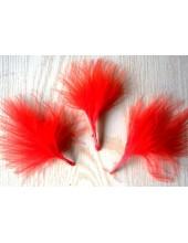 20 шт. Красный цвет. Боа марабу перья страуса 7-10 см