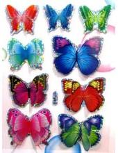 1 шт.  3D Бабочки на палочке 7 см.