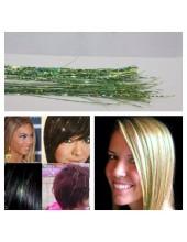 100 шт. Зеленый цвет. Нити для волос.