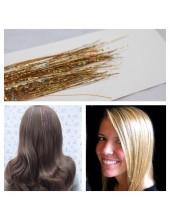 100 ниток. Золотой цвет. Нити для волос.